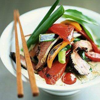 Piatto tipico cucina thailandese