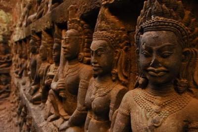 Bassorilievi di Angkor Wat - Cambogia