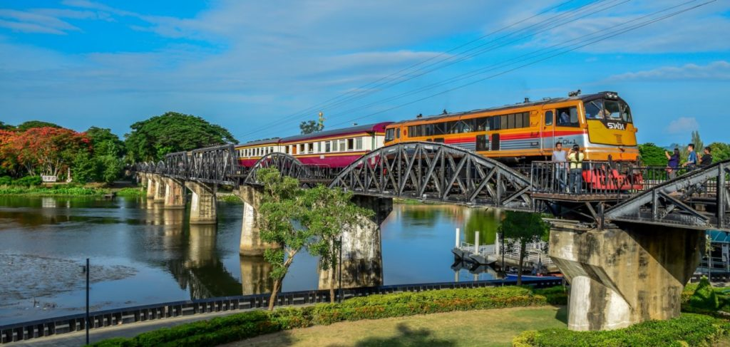 fiume kwai Kanchanaburi thailandia