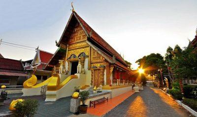Wat Phra Singh di chiang rai in thailandia